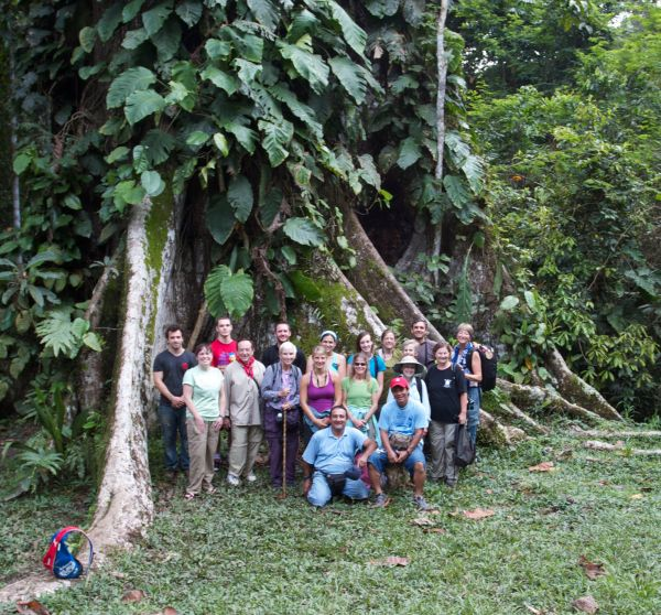 Group in front of Ceiba