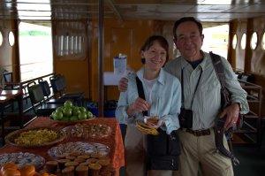 Carolyn and Dan on the Amazon Queen