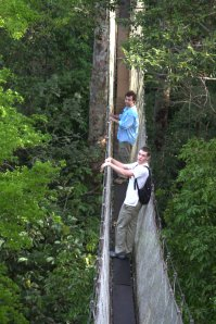 Robert and James on the Canopy Walkway