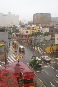 Lima, Peru, in the rain