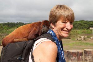 Liz and Howler Monkey