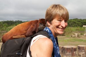 Liz and Howler Monkey