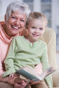 Grandmother Reading with Granddaughter