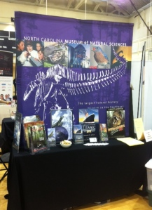 shot of the museum table setup at the 2012 UNC CH intern fair