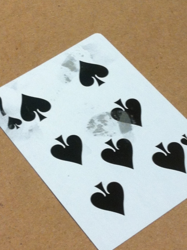 Fingerprints on card