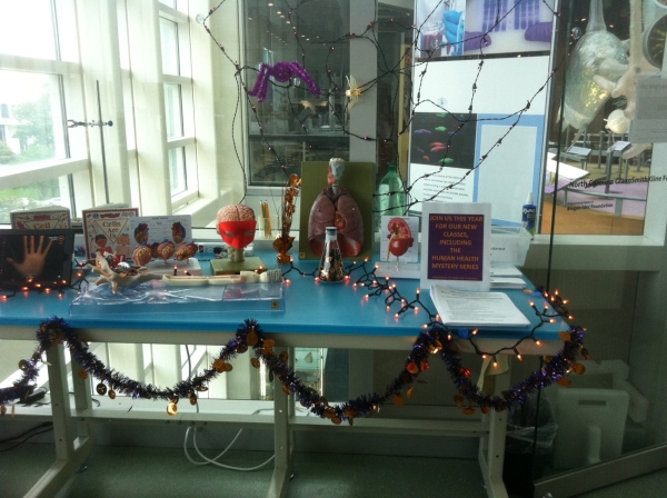 Halloween lab bench