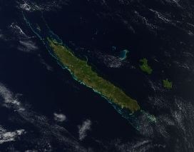 Aerial view of New Caledonia