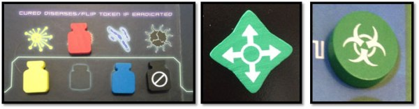 Pandemic Vials and Game Markers