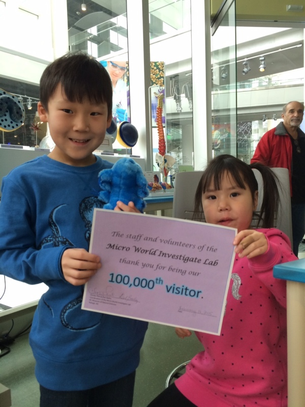 Micro World Investigate Lab's 100000th visitors