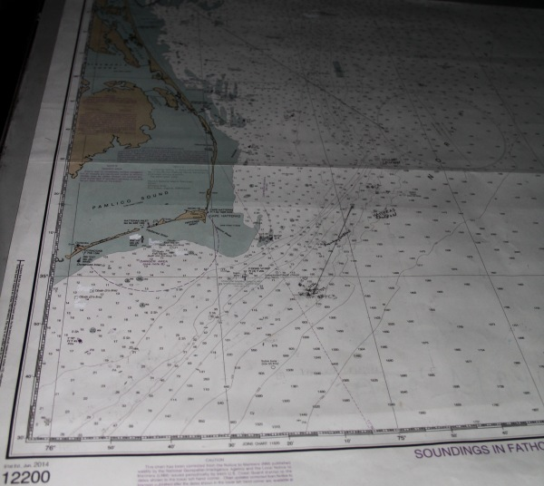 An example of a nautical chart.