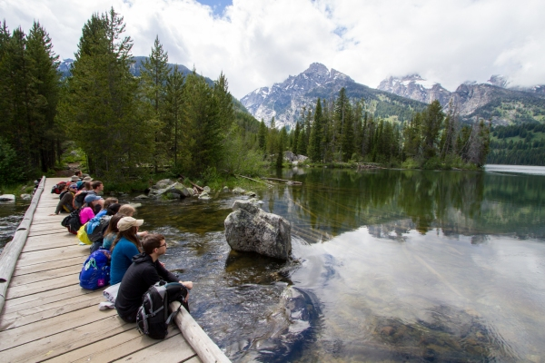 Jcs taking in the scenery at Taggert Lake in the Tetons